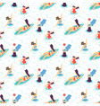 summer recreation girl motivation seamless pattern vector image vector image