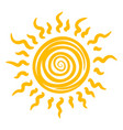 sun icon heat summer sunshine and light vector image vector image