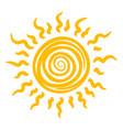 sun icon heat summer sunshine and light vector image