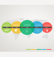 timeline with colored circles stepping structure vector image