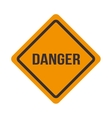 traffic signal danger caution warning design vector image