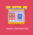 travel preparation luggage vector image vector image