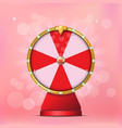 valentine spinning fortune wheel vector image vector image