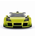 Very fast race green car vector image vector image