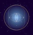 vesica piscis symbol sacred geometry vector image vector image