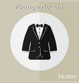 vintage tuxedo suit or business suit vector image