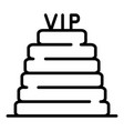 vip steps icon outline style vector image vector image