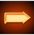 Volume retro arrow with lights vector image vector image