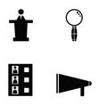 vote icon set vector image