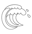 Wave of sea tide icon outline style vector image vector image