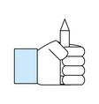 wooden pencil symbol vector image vector image