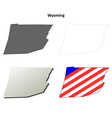 Wyoming Map Icon Set vector image vector image