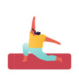 yoga asana young sporty woman fat figure wearing vector image vector image