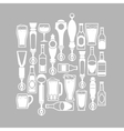 beer taps icons vector image