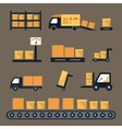 Transportation shipping and delivery icons vector image