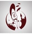 Cartoon vampire Halloween character vector image