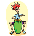 man with conga vector image