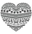Zentangle heart vector image