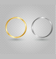 abstract luxury golden ring light circles vector image vector image