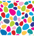 abstract mosaic spot pattern easter egg seamless vector image vector image