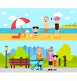 Active Recreation Horizontal Banners vector image vector image
