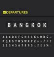 airport board flight departure destination vector image vector image
