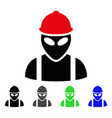 Alien builder flat icon