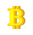b letter bitcoin font cryptocurrency alphabet vector image vector image