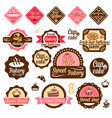 baked goods design elements 1 vector image