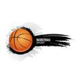 basketball poster sport flyer basketball vector image vector image
