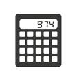 calculator isolated icon design vector image vector image