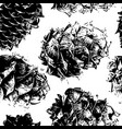cedar cones seamless pattern for your design vector image vector image