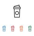 coffee paper cup icon vector image vector image