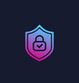 cybersecurity icon logo vector image vector image