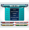 design elements scoreboard vector image vector image