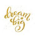 dream big hand written lettering inspirational vector image vector image