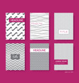 elegant abstract wavy line brochures cover vector image vector image