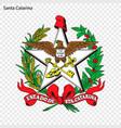 emblem of santa catarina state of brazil vector image