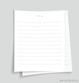 Empty white papers ready for your message vector image vector image