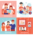 Family Concept Icons Set vector image vector image