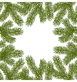 Fir Round Frame vector image vector image