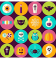 Flat Halloween Party Trick or Treat Seamless vector image vector image
