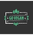 Go vegan Organic food icon vector image vector image