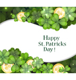 Gold coins and clover vector image vector image