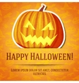 Happy halloween greeting card with bright jack-o vector image vector image