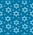 happy israel independence day seamless pattern vector image