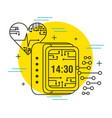 heartbeat digital clock healthcare technology vector image
