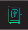 holy bible icon design vector image vector image