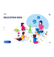 isometric class at kindergarten with woman teacher vector image vector image