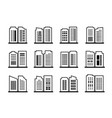 line building and company icon on white vector image vector image